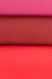 Pink leather Stock Photo