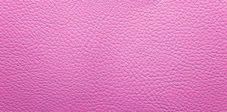 Pink leather background. Panorama. Top of view, texture Royalty Free Stock Photography