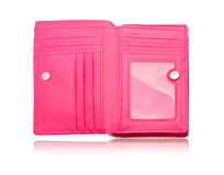Pink leather bag Stock Image