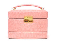 Pink leather box Stock Photo