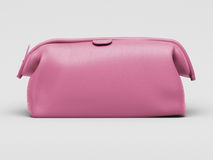Pink leather clutch Stock Image