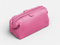 Pink leather clutch Royalty Free Stock Photos