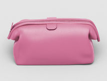 Pink leather clutch Stock Images