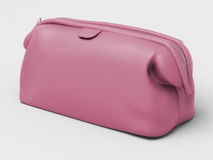 Pink leather clutch Stock Photo