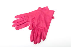 Pink Leather Gloves Stock Images