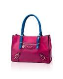 Pink leather handbag Stock Photo