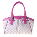 Pink leather ladies handbag Royalty Free Stock Images