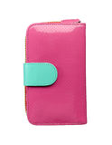 Pink leather purse Royalty Free Stock Image
