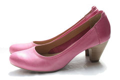 Pink leather shoes Royalty Free Stock Photo