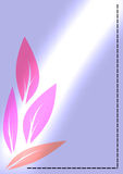 Pink Leaves. With beautiful light, lines and four leaves stock illustration
