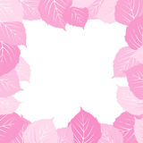 Pink leaves frame Stock Photography