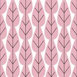 Pink Leaves Pattern. Endless Background. Seamless pattern vector illustration