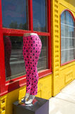 Pink leggings on mannequin Stock Images
