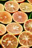 Pink lemon slices. Group of pink lemon slices on wooden background, lemons is medicine for detox, treat to cough, sore throat, a healthy food, nature medicine stock photo