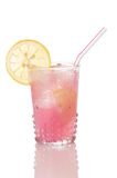 Pink Lemonade In Old Style Glass Stock Images