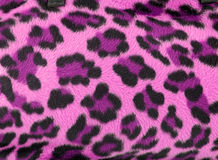 Pink leopard faux fur background Stock Photos