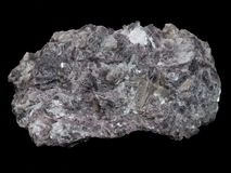 Pink lepidolite mica - lithium ore mineral royalty free stock image