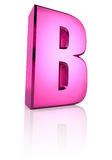Pink Letter B Stock Images