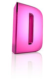 Pink Letter D Royalty Free Stock Image