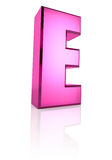 Pink Letter E Royalty Free Stock Image
