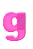 Pink letter g Stock Photo