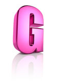Pink Letter G Stock Images