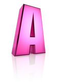 Pink Letter A Stock Photos