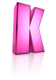 Pink Letter K Stock Photo