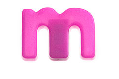 Pink letter m Royalty Free Stock Photo