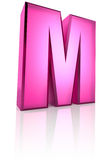 Pink Letter M Stock Images
