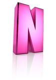 Pink Letter N Royalty Free Stock Photography