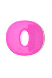 Pink letter o Royalty Free Stock Image