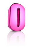 Pink Letter O Stock Image
