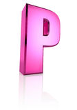 Pink Letter P Stock Photos