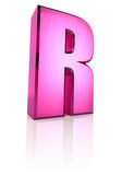 Pink Letter R Royalty Free Stock Image