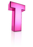 Pink Letter T Royalty Free Stock Images
