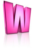 Pink Letter W Stock Images