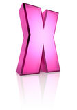 Pink Letter X Stock Photography