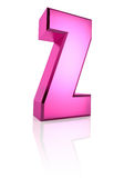 Pink Letter Z Royalty Free Stock Image