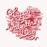 Pink lettering heart shape Royalty Free Stock Photos