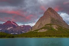 Pink Light Above Grinnell Point stock photography
