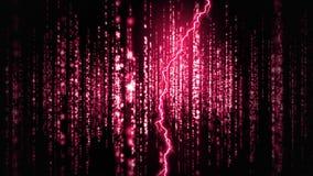 Pink lightning and glittery lights