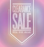 Pink lights clearance sale poster sign banner Royalty Free Stock Photos