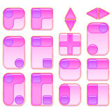 Pink and Lilac Buttons Set Stock Photography