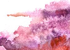 Free Pink, Lilac, Purple Watercolor Background For Your Design. Hand Drawn Texture. Royalty Free Stock Photography - 126012237