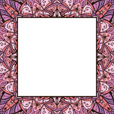 Pink and lilas ornamental frame. Royalty Free Stock Photos