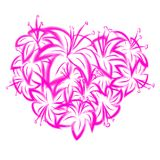 Pink lily in the shape of heart Royalty Free Stock Photo