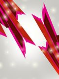 Pink line right side, abstract background Royalty Free Stock Image