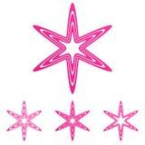 Pink line star logo design set. Pink line star logo icon design set Royalty Free Stock Photos