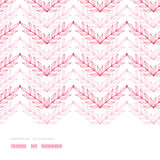 Pink lineart leaves chevron horizontal frame Stock Image